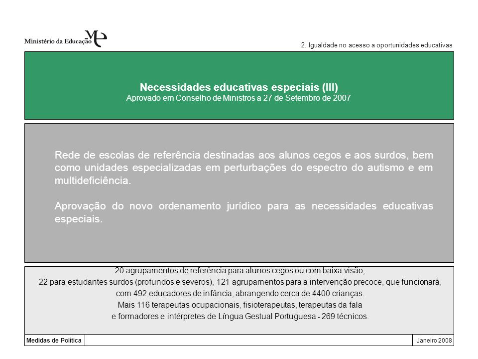 Necessidades educativas especiais (III)