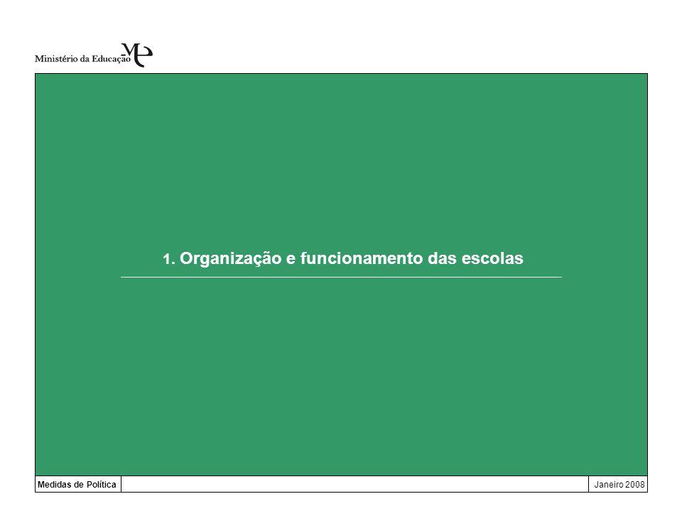 1. Organização e funcionamento das escolas