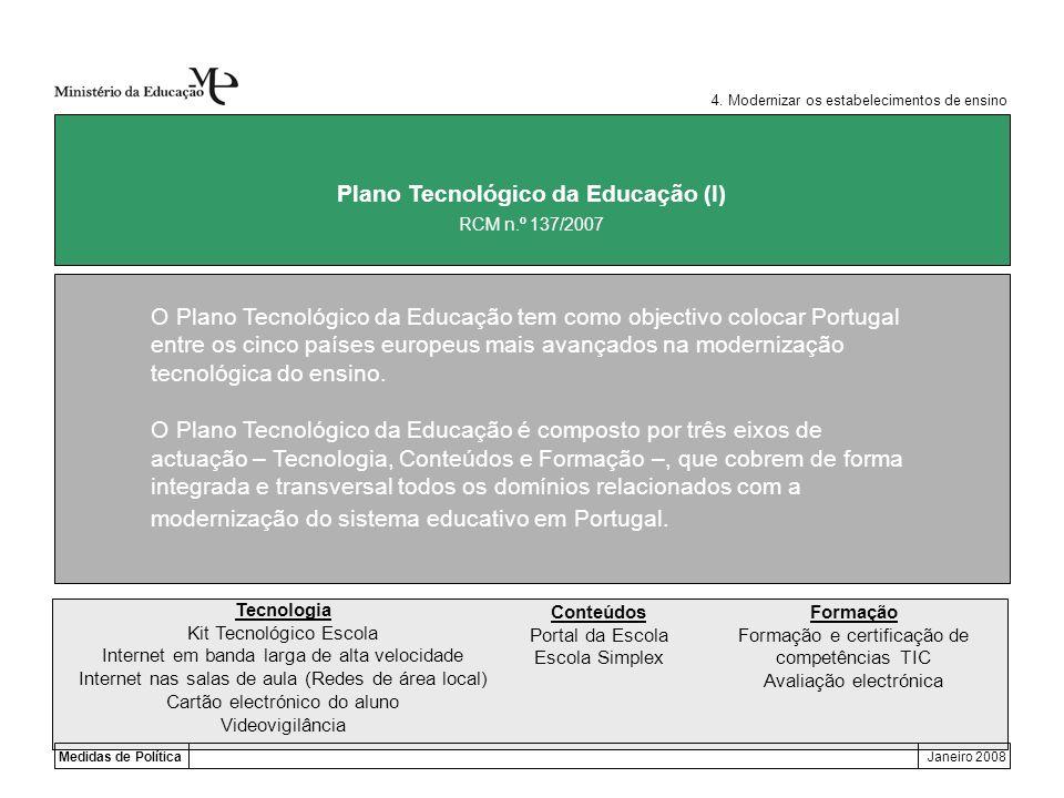 Plano Tecnológico da Educação (I)