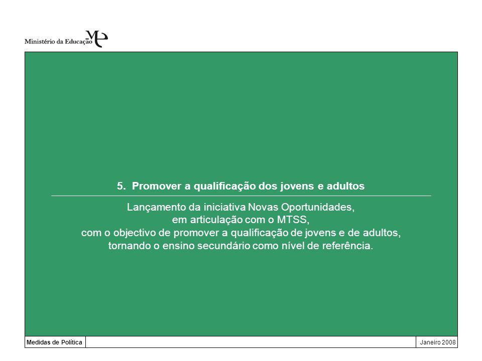 5. Promover a qualificação dos jovens e adultos