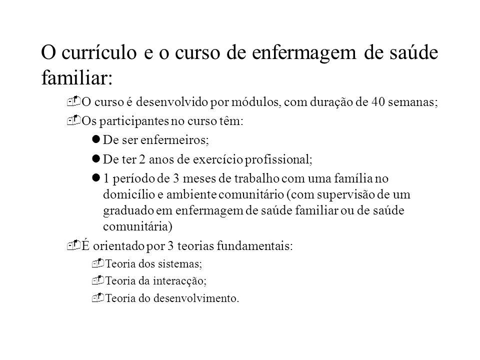 O currículo e o curso de enfermagem de saúde familiar: