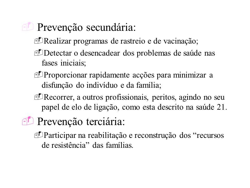 Prevenção secundária: