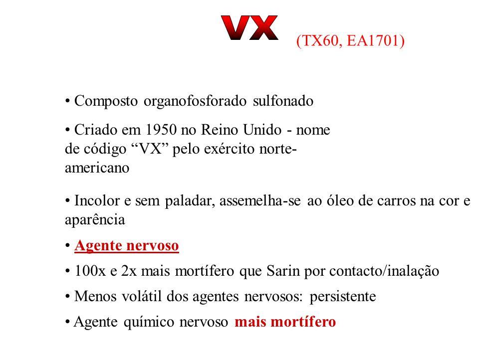 VX (TX60, EA1701) Composto organofosforado sulfonado