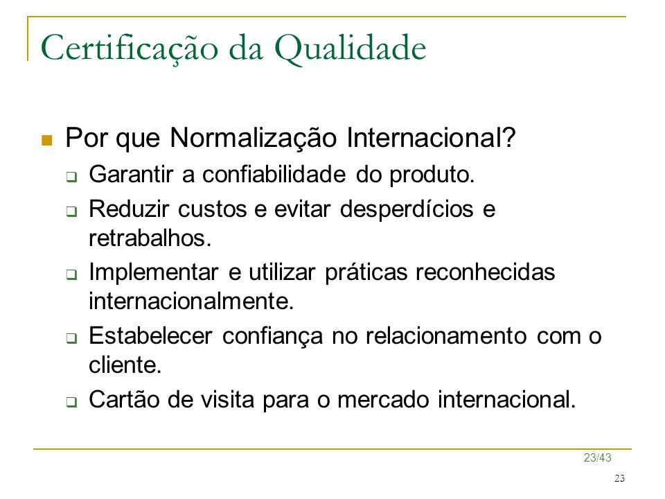 Certificação da Qualidade