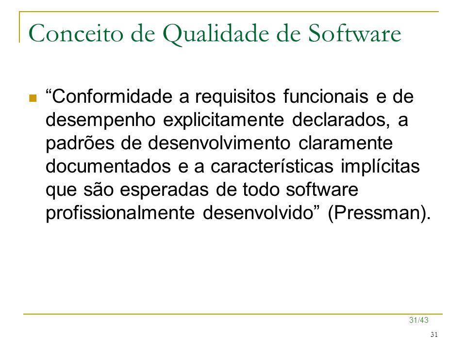 Conceito de Qualidade de Software
