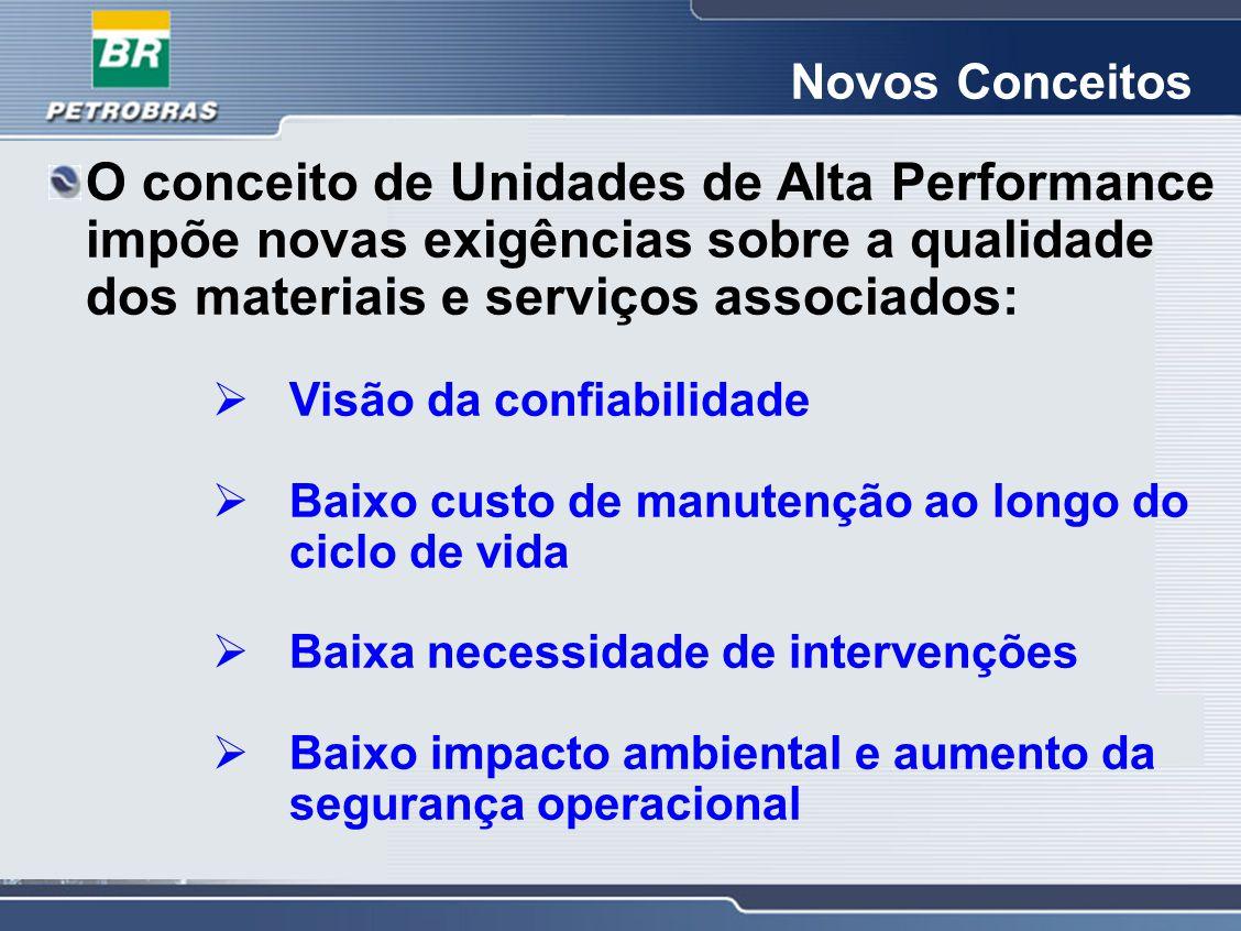 Novos Conceitos O conceito de Unidades de Alta Performance impõe novas exigências sobre a qualidade dos materiais e serviços associados: