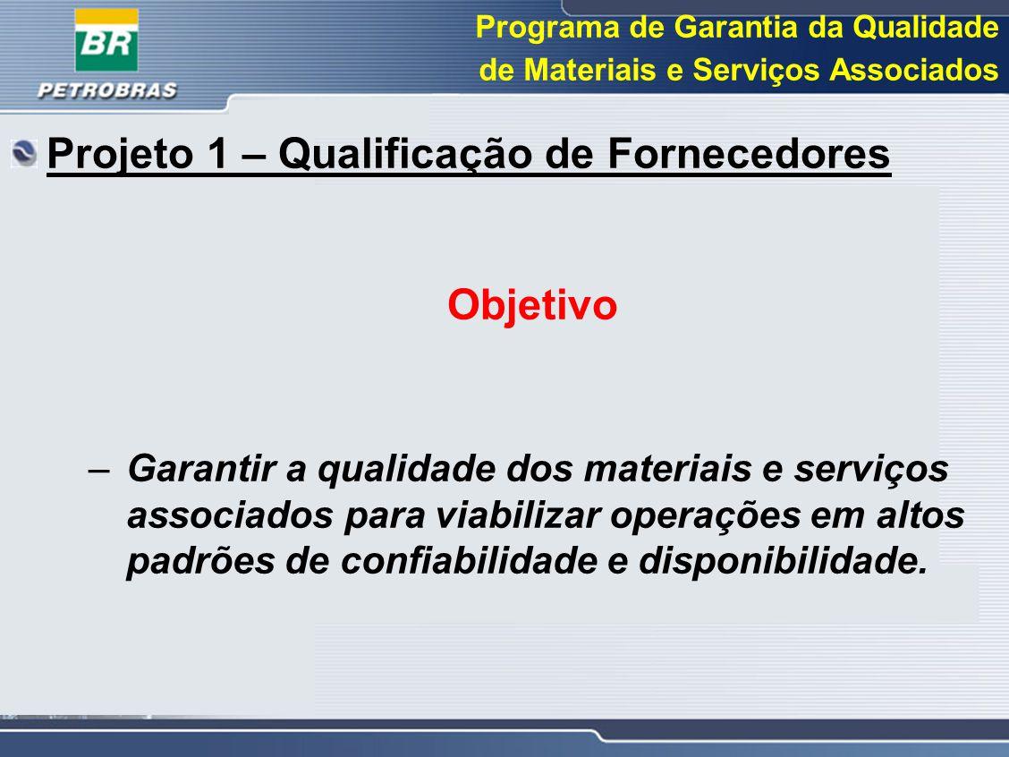Projeto 1 – Qualificação de Fornecedores