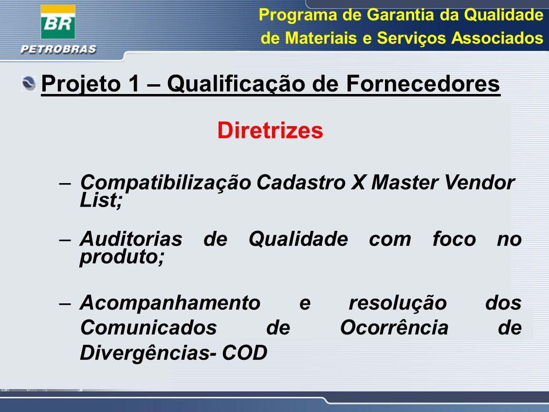 Projeto 1 – Qualificação de Fornecedores Diretrizes
