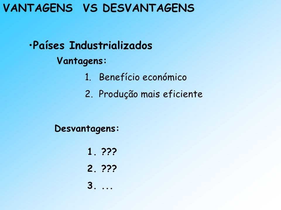 VANTAGENS VS DESVANTAGENS