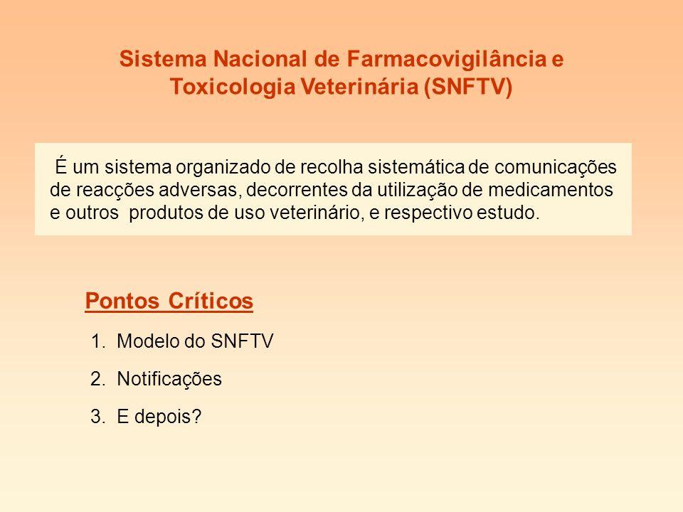 Sistema Nacional de Farmacovigilância e Toxicologia Veterinária (SNFTV)