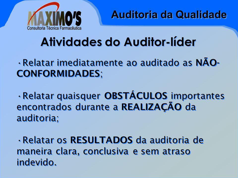 Atividades do Auditor-líder