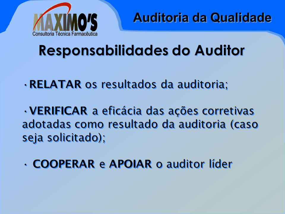 Responsabilidades do Auditor