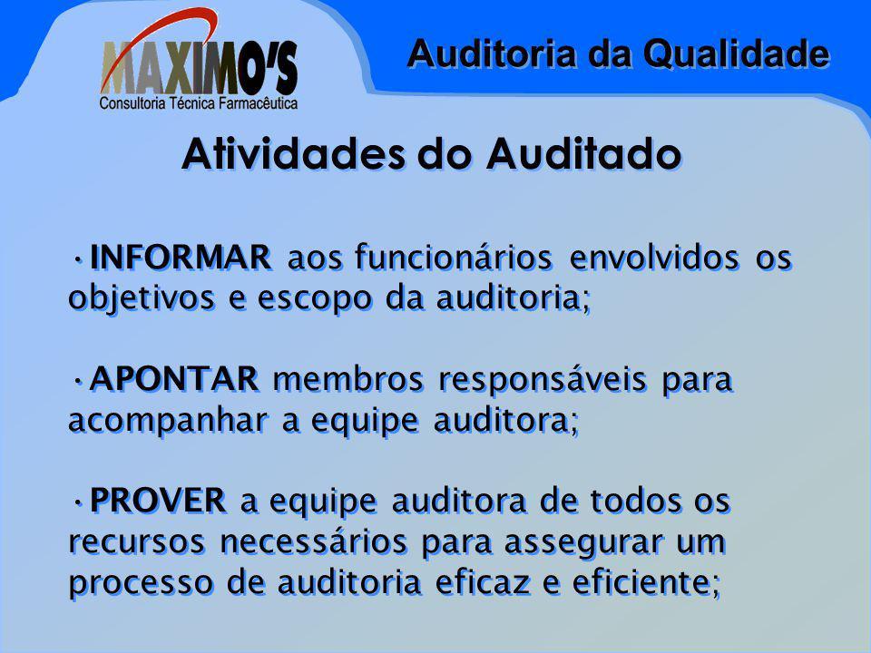 Atividades do Auditado
