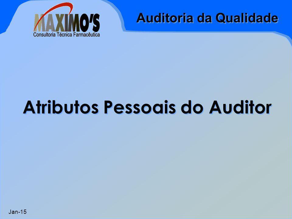 Atributos Pessoais do Auditor
