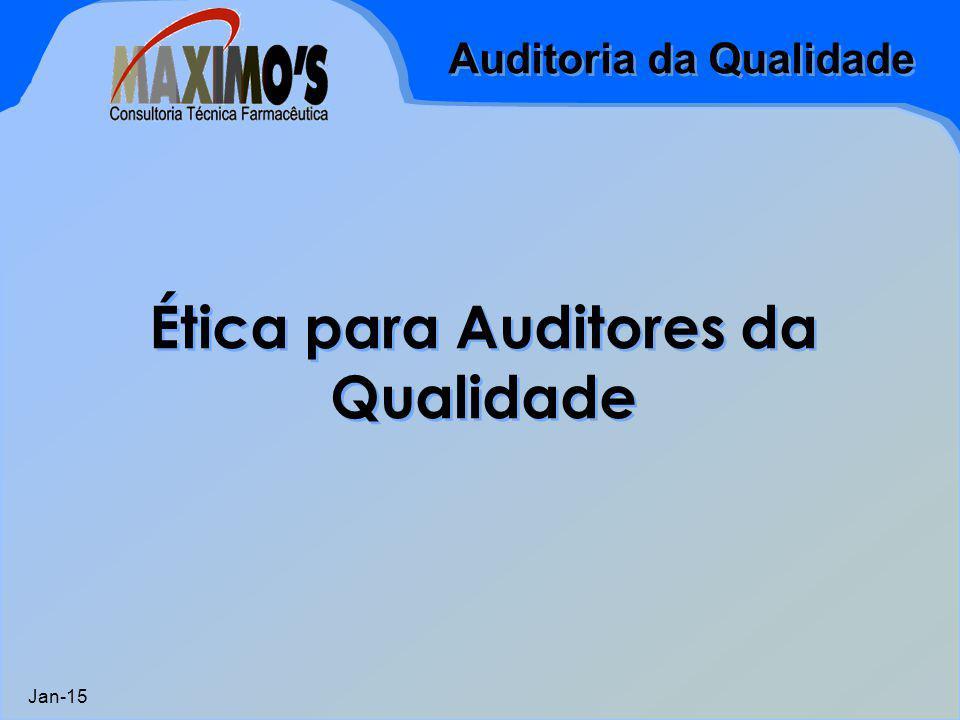 Ética para Auditores da Qualidade
