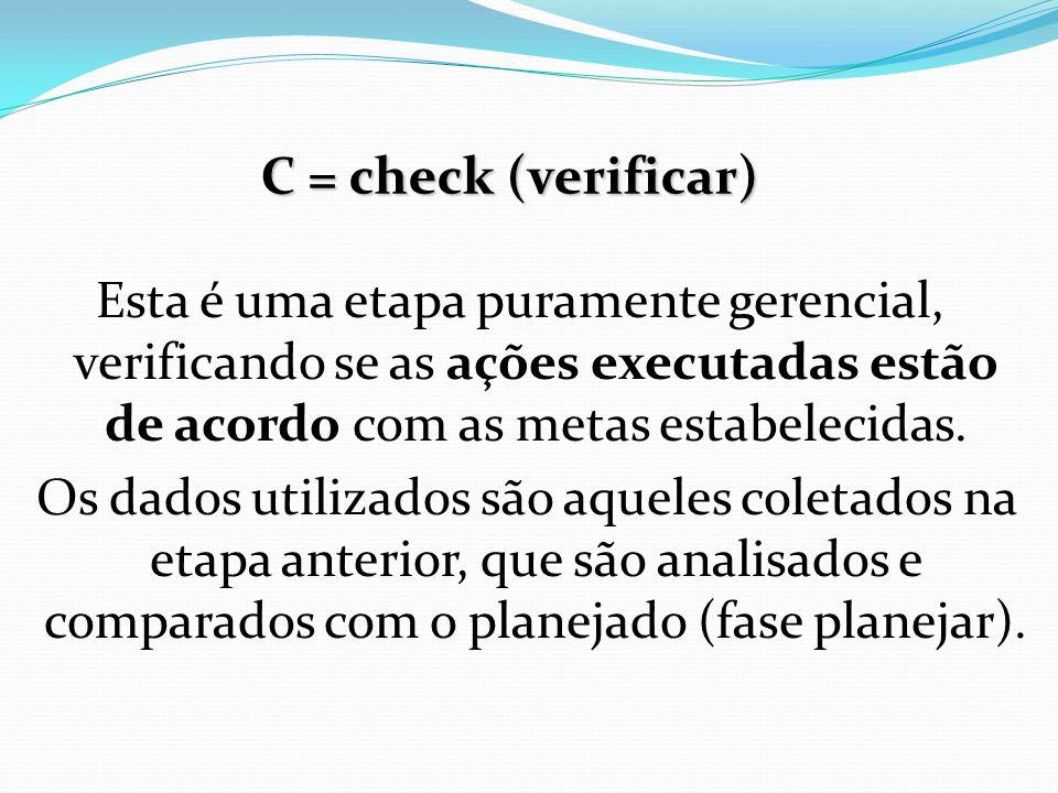 C = check (verificar)