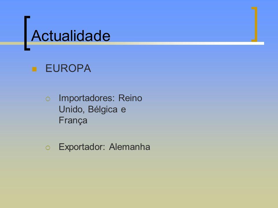 Actualidade EUROPA Importadores: Reino Unido, Bélgica e França