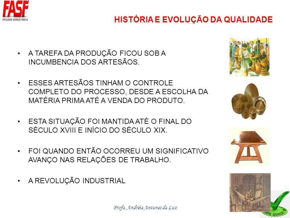 HISTÓRIA E EVOLUÇÃO DA QUALIDADE