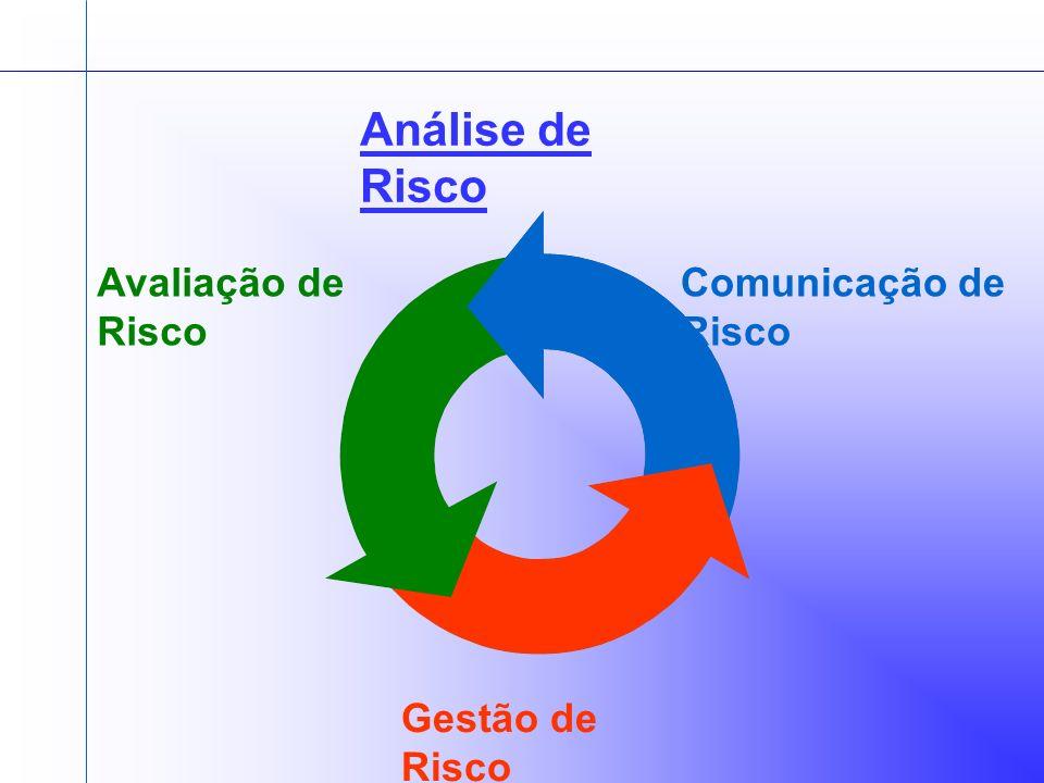 Análise de Risco Avaliação de Risco Comunicação de Risco