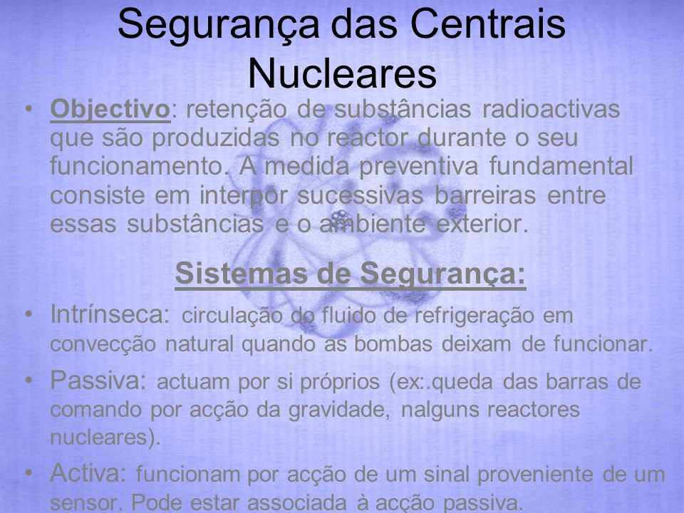 Segurança das Centrais Nucleares