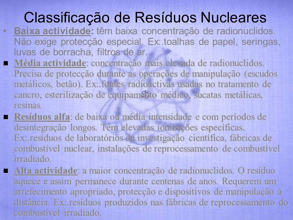 Classificação de Resíduos Nucleares