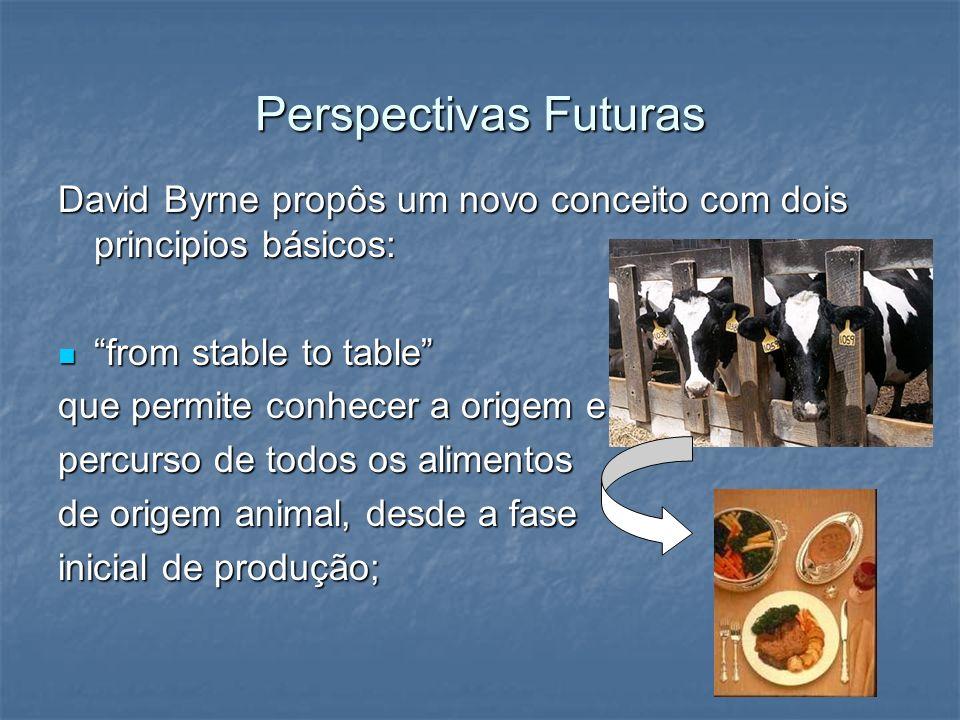 Perspectivas Futuras David Byrne propôs um novo conceito com dois principios básicos: from stable to table