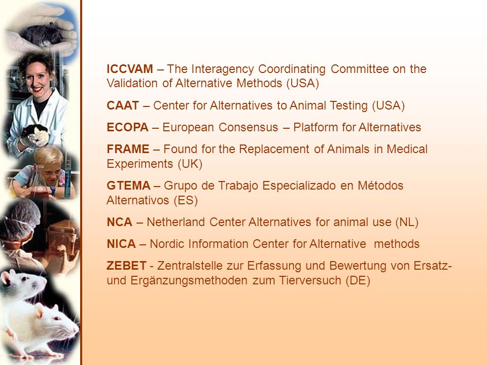 ICCVAM – The Interagency Coordinating Committee on the Validation of Alternative Methods (USA)