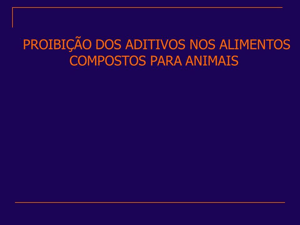 PROIBIÇÃO DOS ADITIVOS NOS ALIMENTOS COMPOSTOS PARA ANIMAIS
