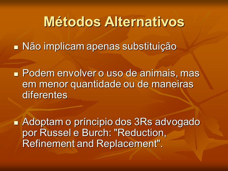 Métodos Alternativos Não implicam apenas substituição