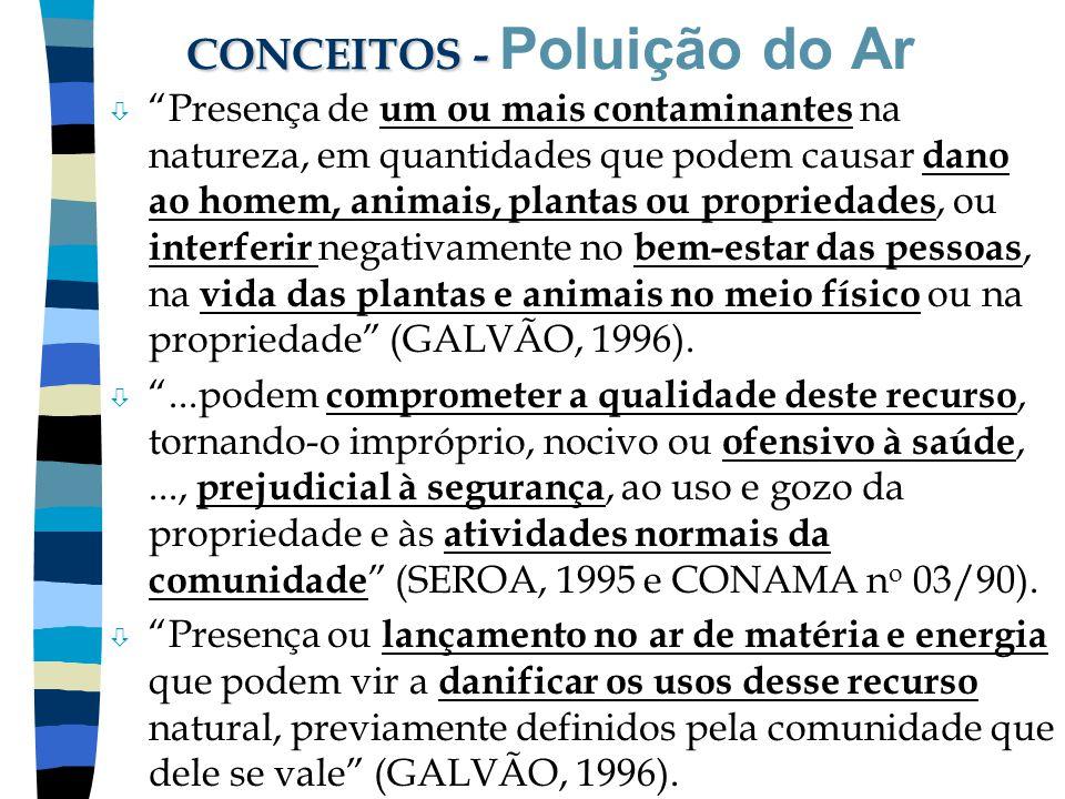 CONCEITOS - Poluição do Ar