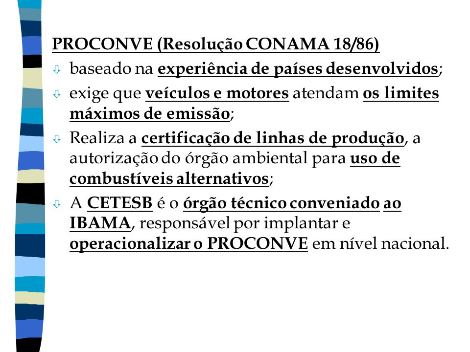 PROCONVE (Resolução CONAMA 18/86)