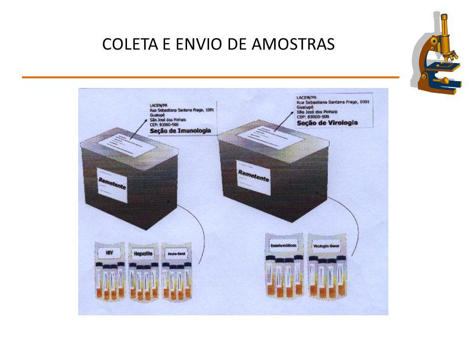 COLETA E ENVIO DE AMOSTRAS