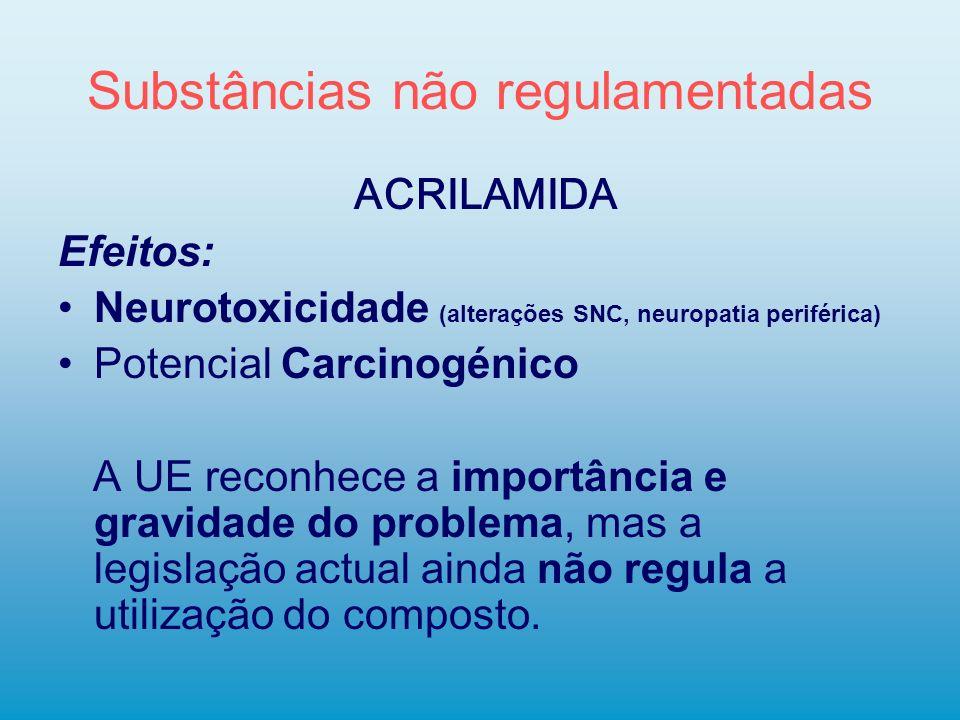 Substâncias não regulamentadas
