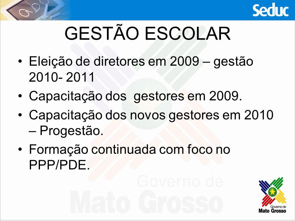GESTÃO ESCOLAR Eleição de diretores em 2009 – gestão 2010- 2011