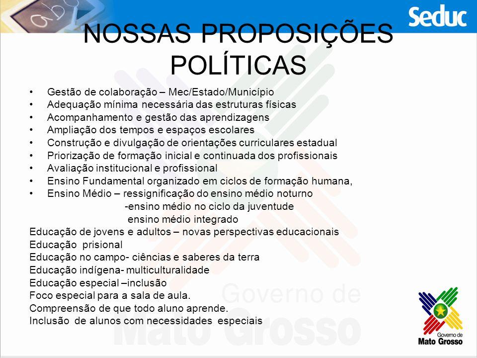 NOSSAS PROPOSIÇÕES POLÍTICAS