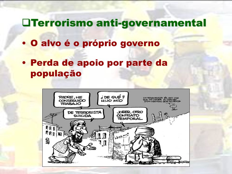 Terrorismo anti-governamental
