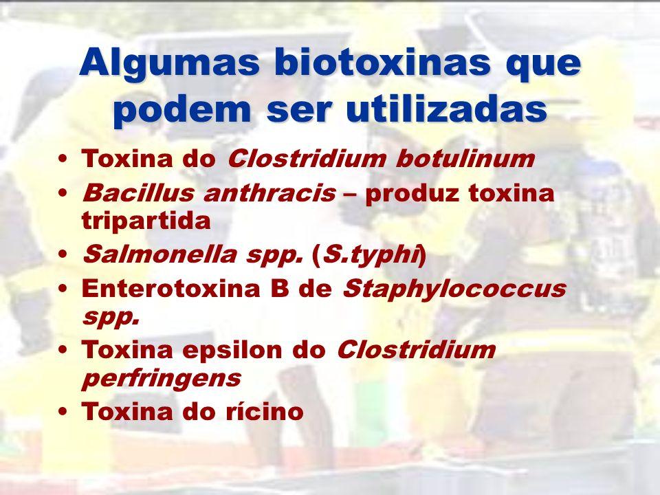 Algumas biotoxinas que podem ser utilizadas
