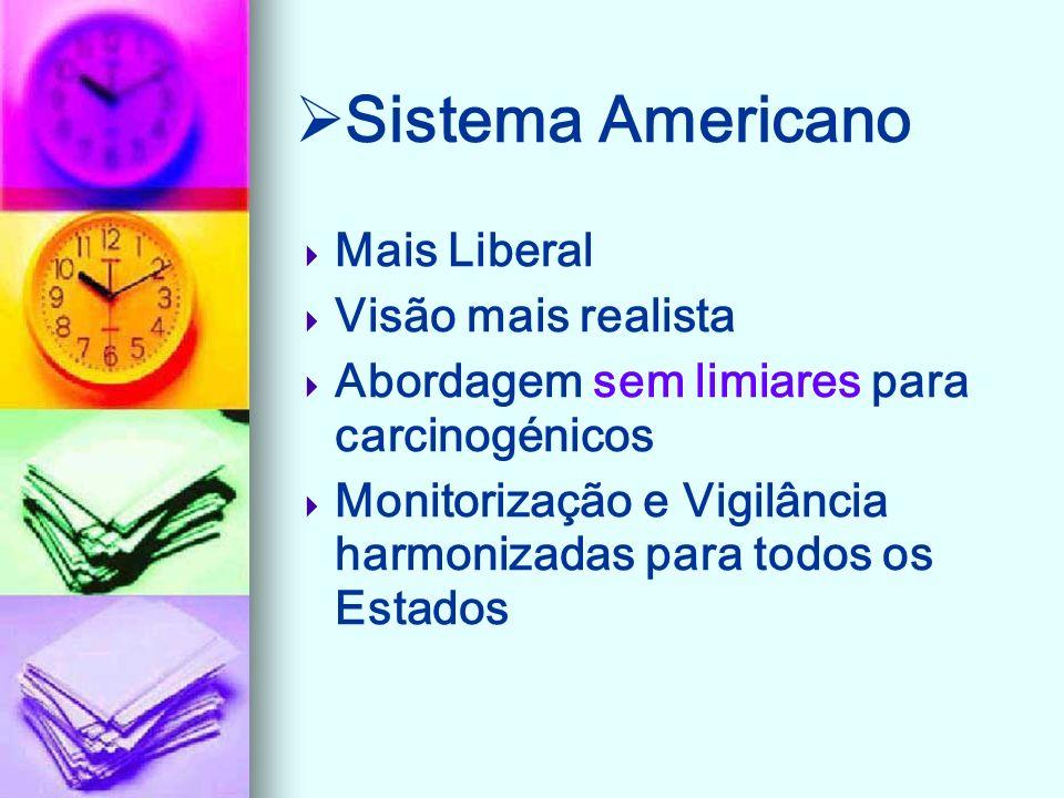 Sistema Americano Mais Liberal Visão mais realista