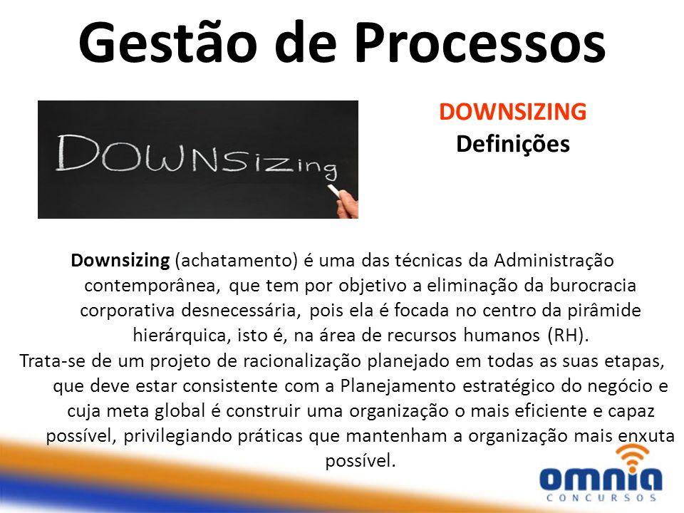 Gestão de Processos DOWNSIZING Definições