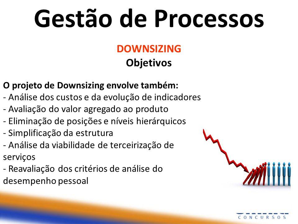 Gestão de Processos DOWNSIZING Objetivos