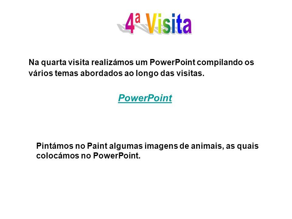 4ª VisitaNa quarta visita realizámos um PowerPoint compilando os vários temas abordados ao longo das visitas.