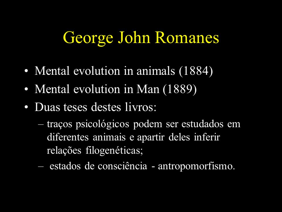 George John Romanes Mental evolution in animals (1884)