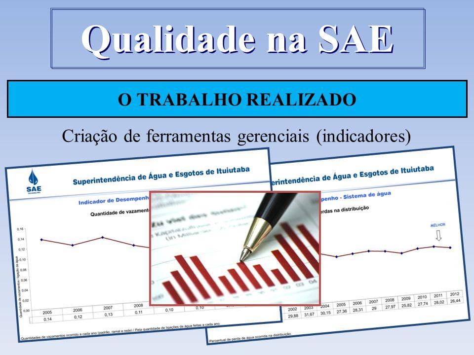 Criação de ferramentas gerenciais (indicadores)