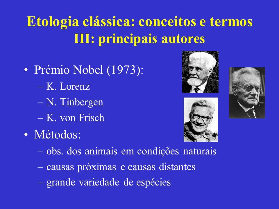 Etologia clássica: conceitos e termos III: principais autores
