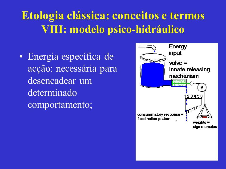 Etologia clássica: conceitos e termos VIII: modelo psico-hidráulico