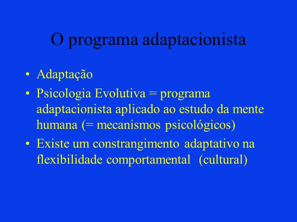O programa adaptacionista