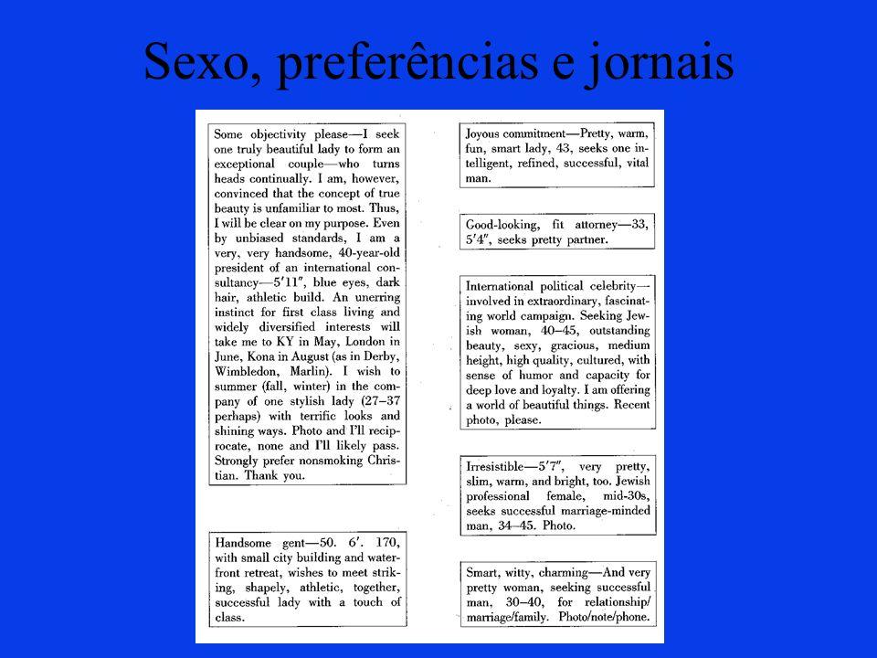 Sexo, preferências e jornais