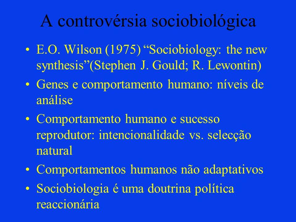 A controvérsia sociobiológica
