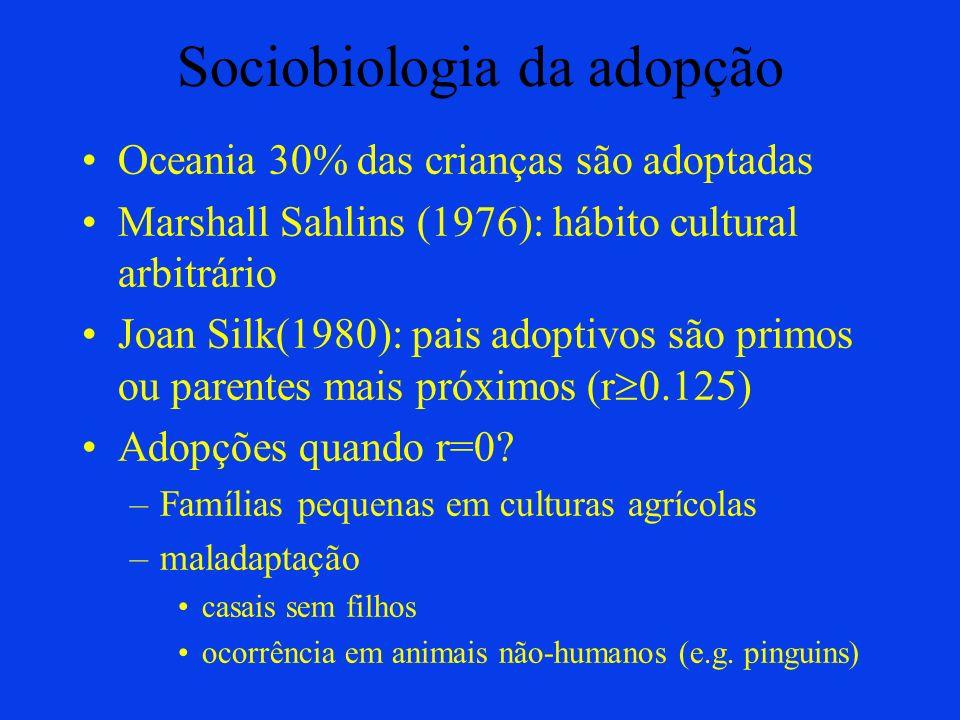 Sociobiologia da adopção