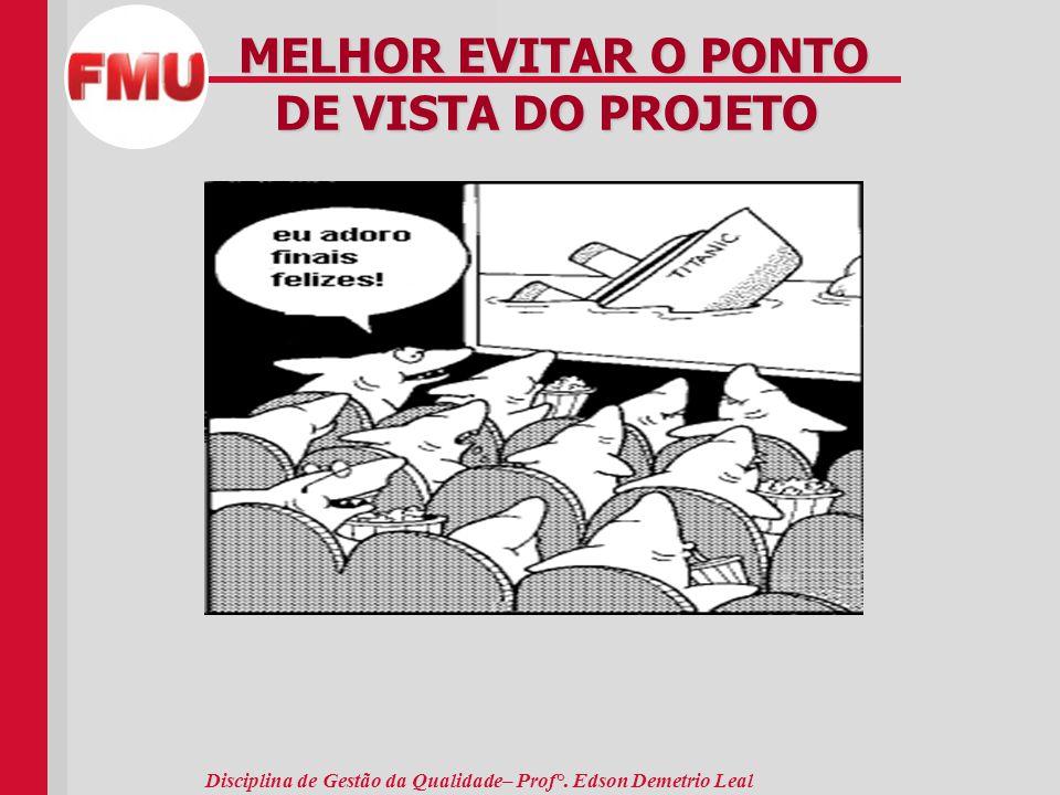 MELHOR EVITAR O PONTO DE VISTA DO PROJETO